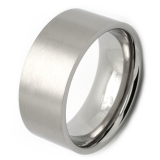 10mm Flat Profile Satin Stainless Steel Ring