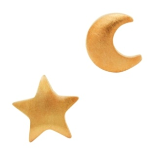 Rose Gold Star & Moon Earrings