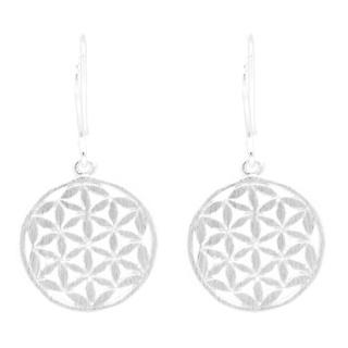 Silver Flower of Life Earrings