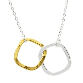 Silver & Gold Square Necklace
