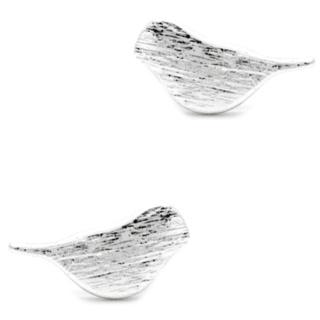 Silver Plated Little Bird Stud Earrings