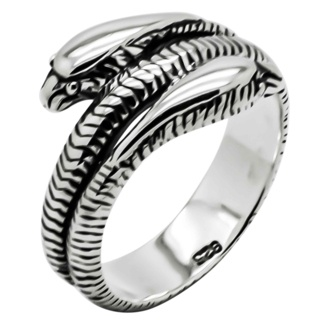 925 Silver Twin Snake Ring