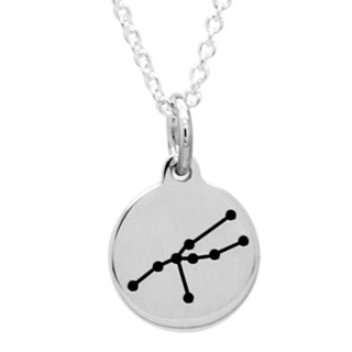 925 Silver Zodiac Taurus Constellation Necklace