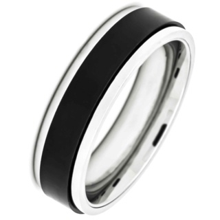 Stainless Steel Spinning Two Tone Ring