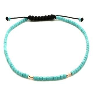 Rose Gold & Turquoise Miyuki Beads