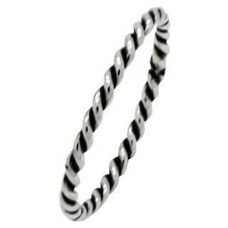 Twisted 925 Silver Stacking Ring