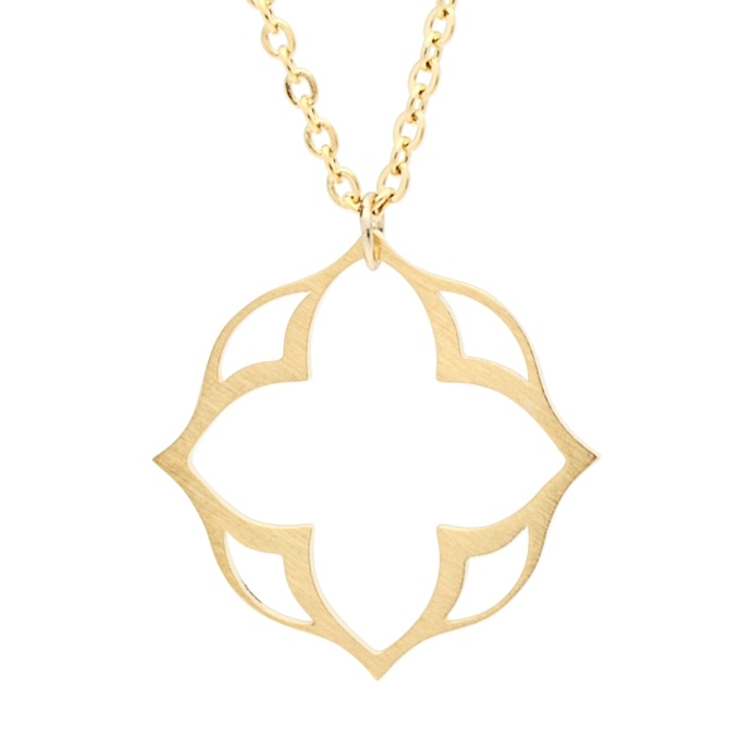 Gold Lotus Flower Necklace Gold Silver Necklaces Suay Design
