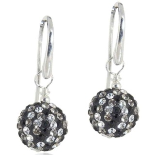 Spangle Black Drop Crystal Earrings