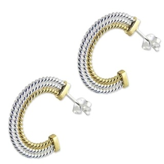 Paloma Hoop Gold & Silver Earrings