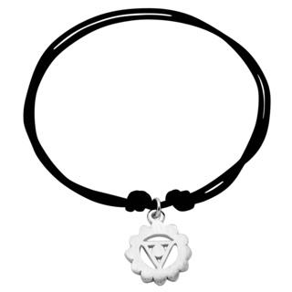 Adjustable Silver Throat Chakra Bracelet