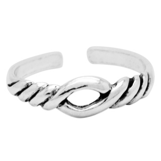 925 Silver Twisted Toe Ring