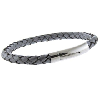 Arizona Silver Leather Bracelet