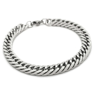 Polished Stainless Steel Curb Chain Bracelet