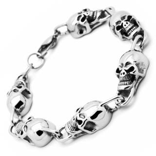Stainless Steel Skull Bracelet VS2