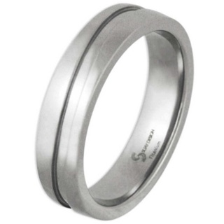 Swell Polished Titanium Ring