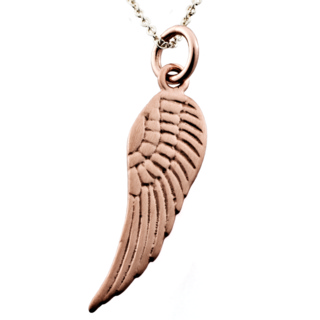 Rose Gold Angel Wing Charm Necklace