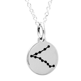 925 Silver Zodiac Pisces Constellation Necklace