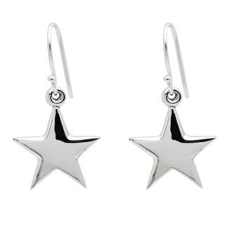 925 Silver Star Drop Earrings
