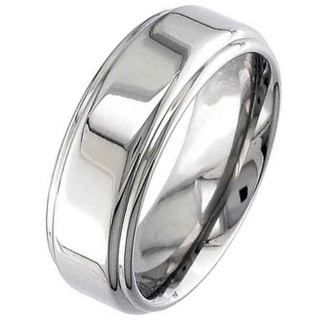 High Polished Flat Profile Titanium Ring