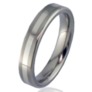 Platinum & Titanium Wedding Ring