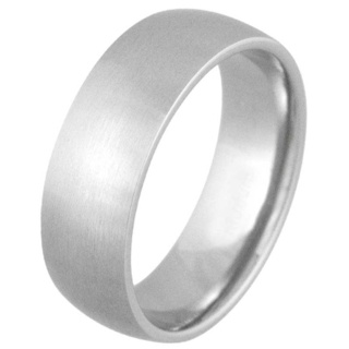 Smooth 8mm Satin Steel Ring
