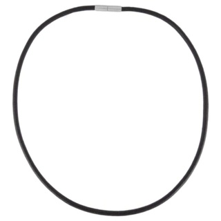 Black Leather Necklace 4mm