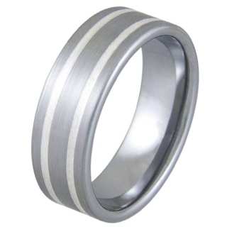 Accomplish Satin Tungsten Ring