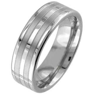 Flat Profile Two Tone Titanium Ring