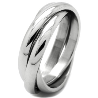 Stainless Steel Russian Ring