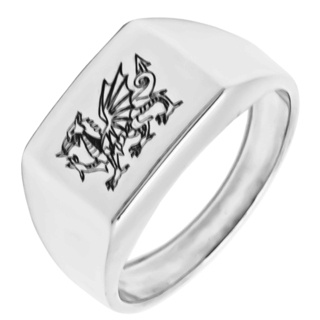 Welsh Dragon 925 Silver  Signet Ring
