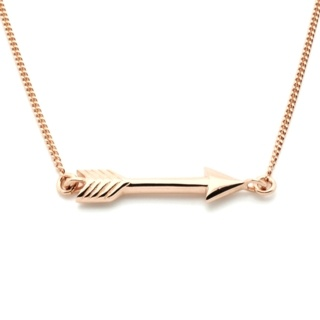 Rose Gold Plated Silver Arrow Necklace