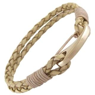 Orlando Light Tan Leather Bracelet