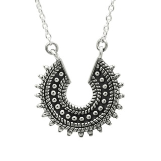 925 Silver Crescent Necklace