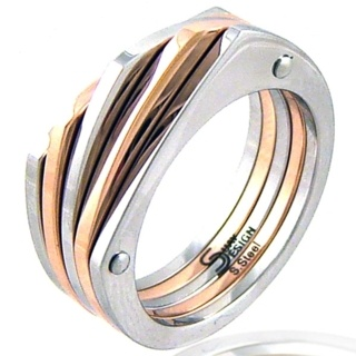 La Sal Rose Steel Ring