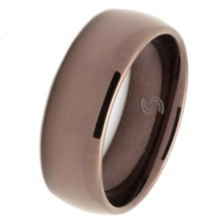 Dome Profile Coffee Coloured Tungsten Carbide Ring