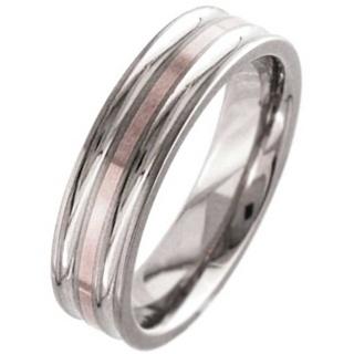 Rose Gold & Titanium Wedding Ring