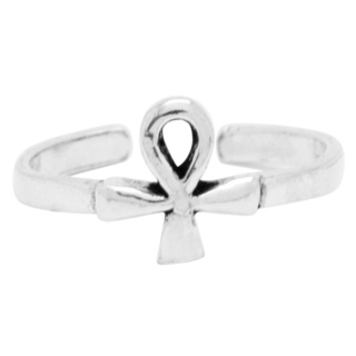 925 Silver Ankh Toe Ring