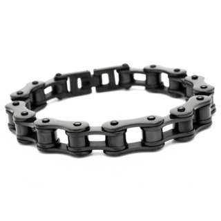 Black Stainless Steel Bike Chain Bracelet