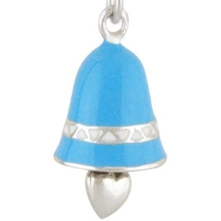 Bell Silver Charm Blue