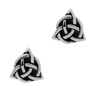 925 Silver Triquetra Stud Earrings