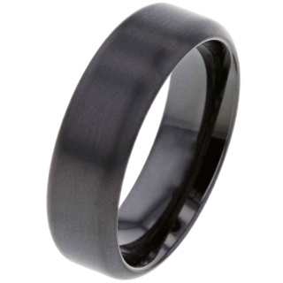 Brushed Black Zirconium Ring