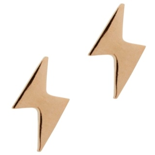 Rose Gold Lightning Bolt Earrings