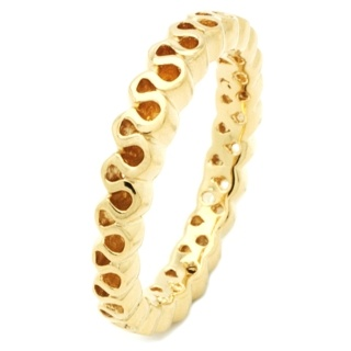 Gold Wave Silver Stacking Ring