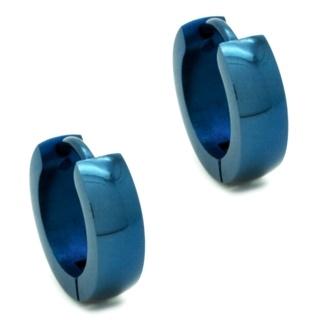 Stainless Steel Neon Blue Huggie Earrings