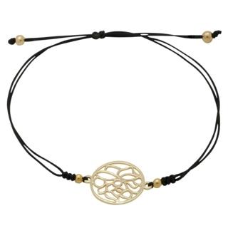 Gold Plated Lotus Flower Charm Bracelet