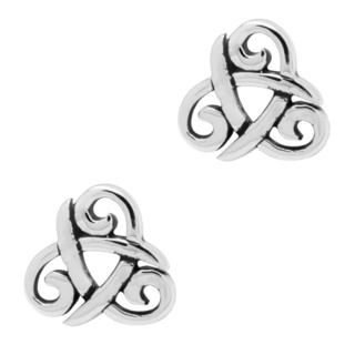 925 Silver Triquetra Earrings