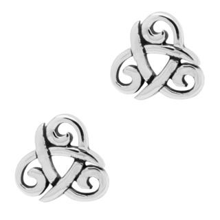 925 Silver Triquetra Earrings