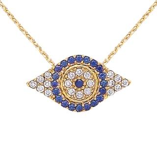 Ottoman Hands Crystal Evil Eye Necklace
