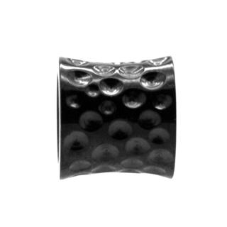 Black Indented Concave Titanium bead