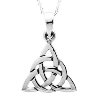 925 Silver Celtic Trinity Knot Necklace